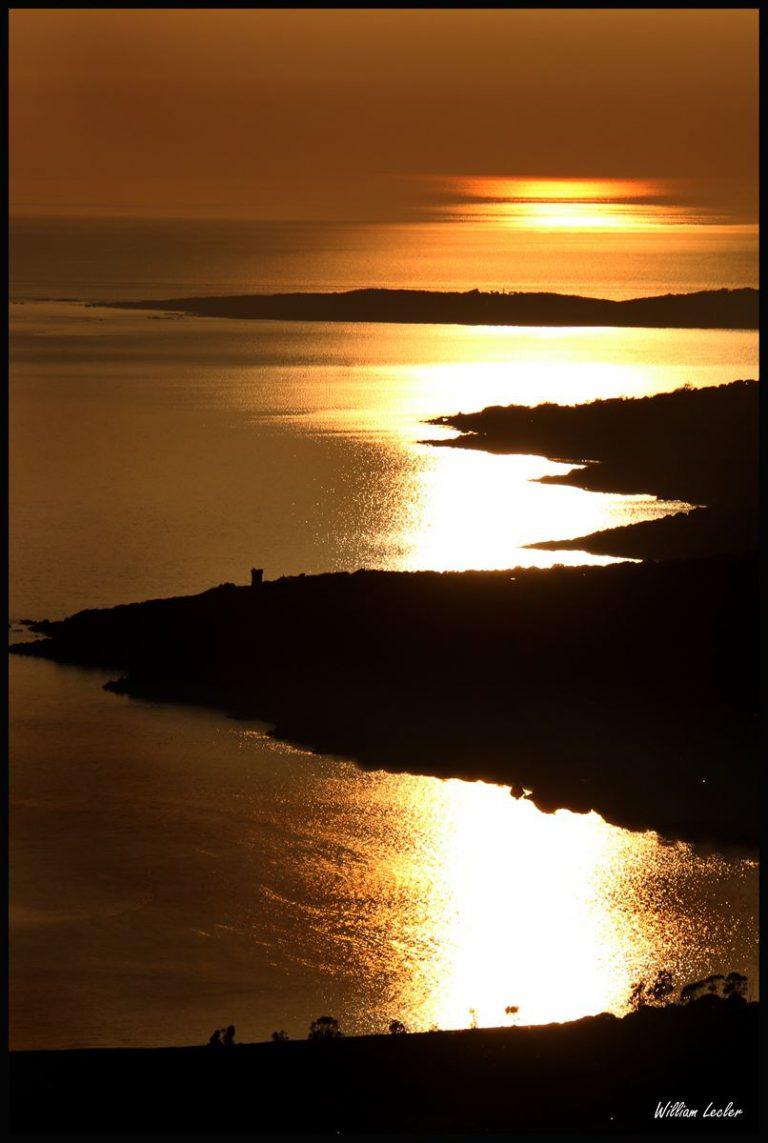 coucher de soleil sur le Valinco