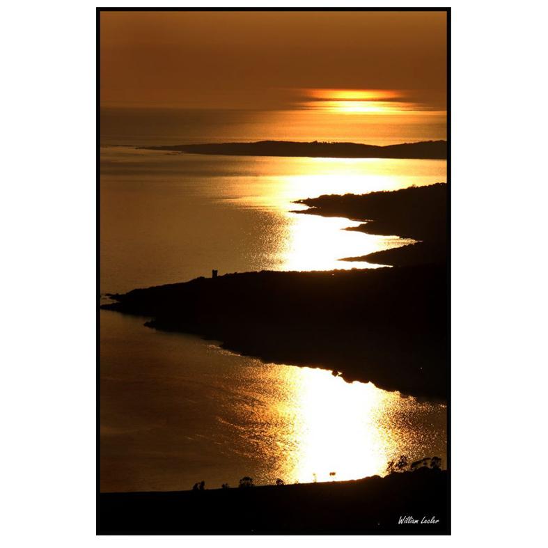Couché de soleil sur le Valinco - William Lecler
